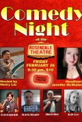 Rosendale Theatre Comedy Showcase Night